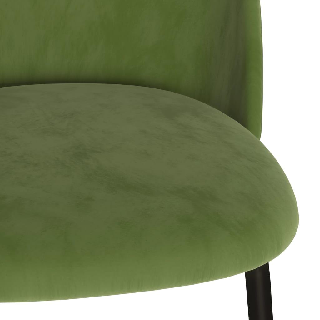 vidaXL Eetkamerstoelen 4 st stof groen