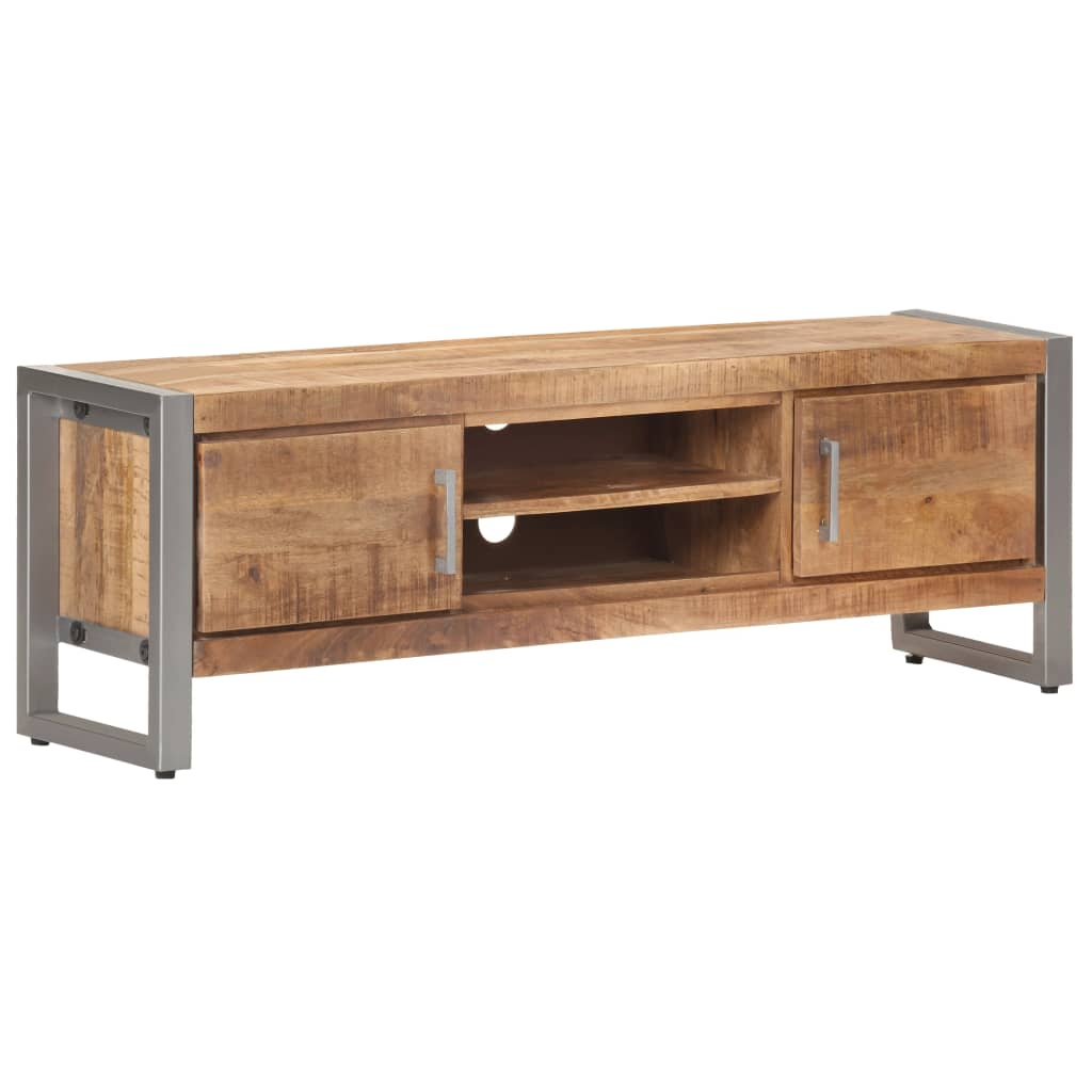 Tv-meubel 120x30x40 cm ruw mangohout