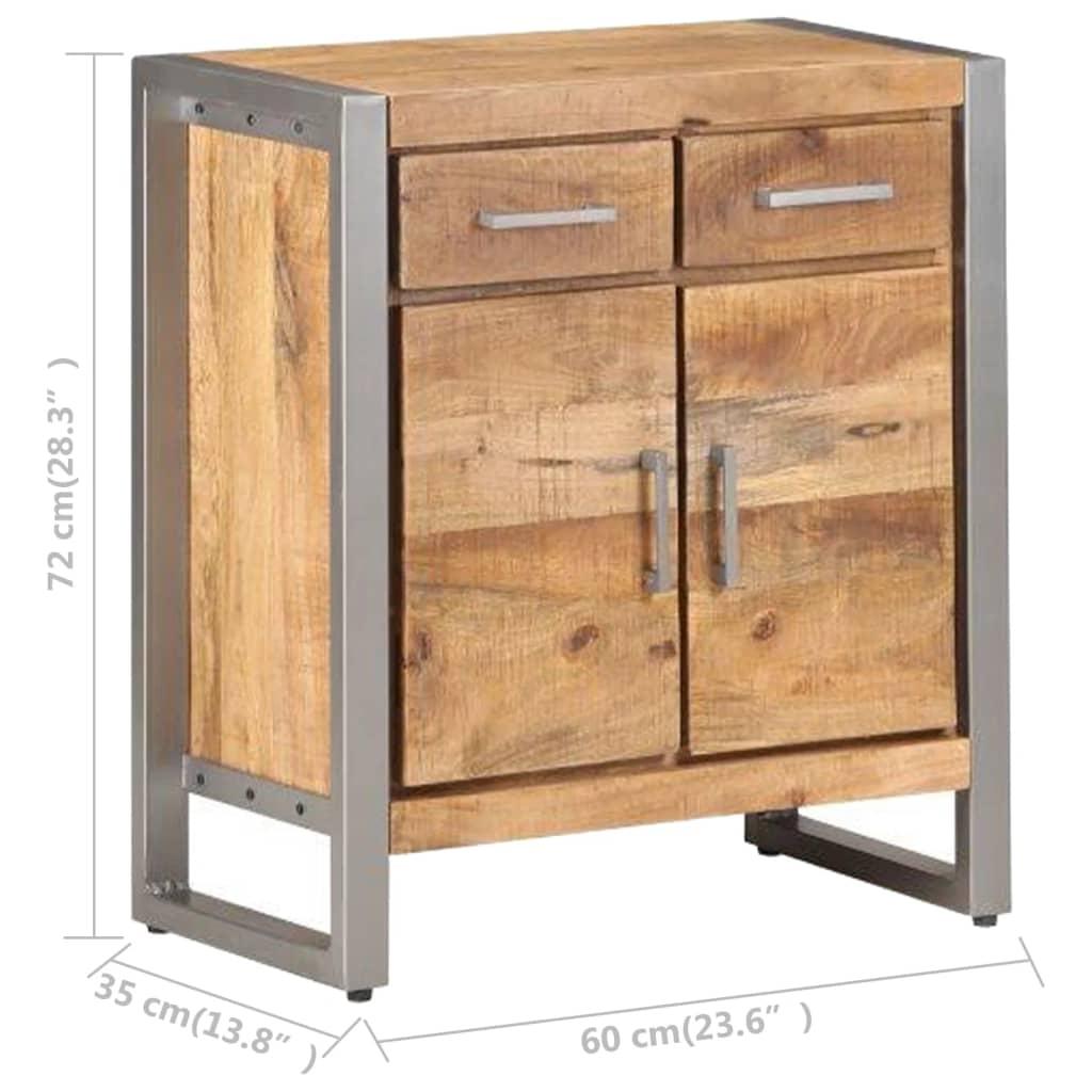 vidaXL Dressoir 60x35x72 cm ruw mangohout