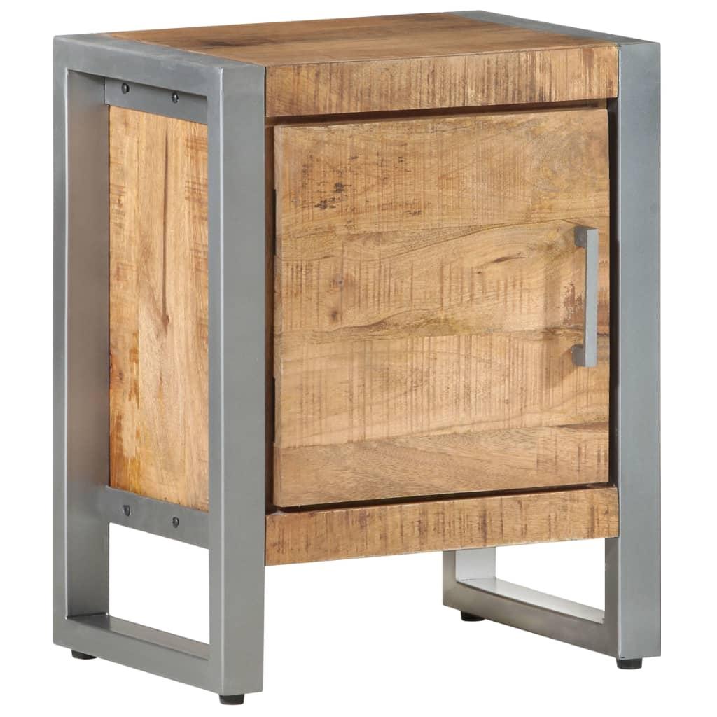 vidaXL Nachtkastje 40x30x50 cm ruw mangohout