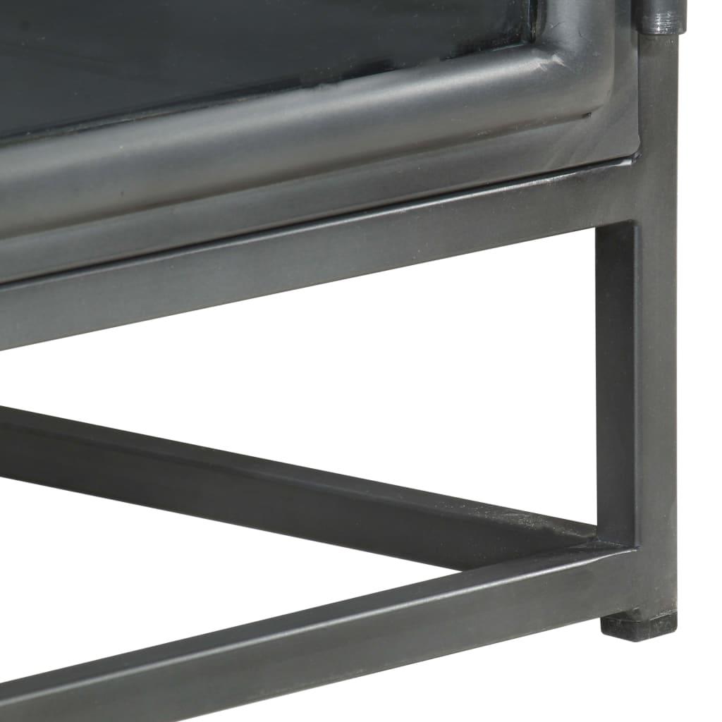 vidaXL Salontafel 90x50x35 cm massief acaciahout grijs
