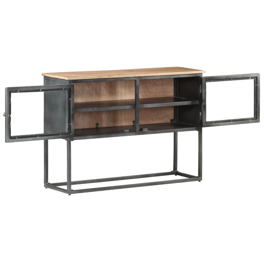vidaXL Dressoir 100x30x70 cm massief acaciahout grijs