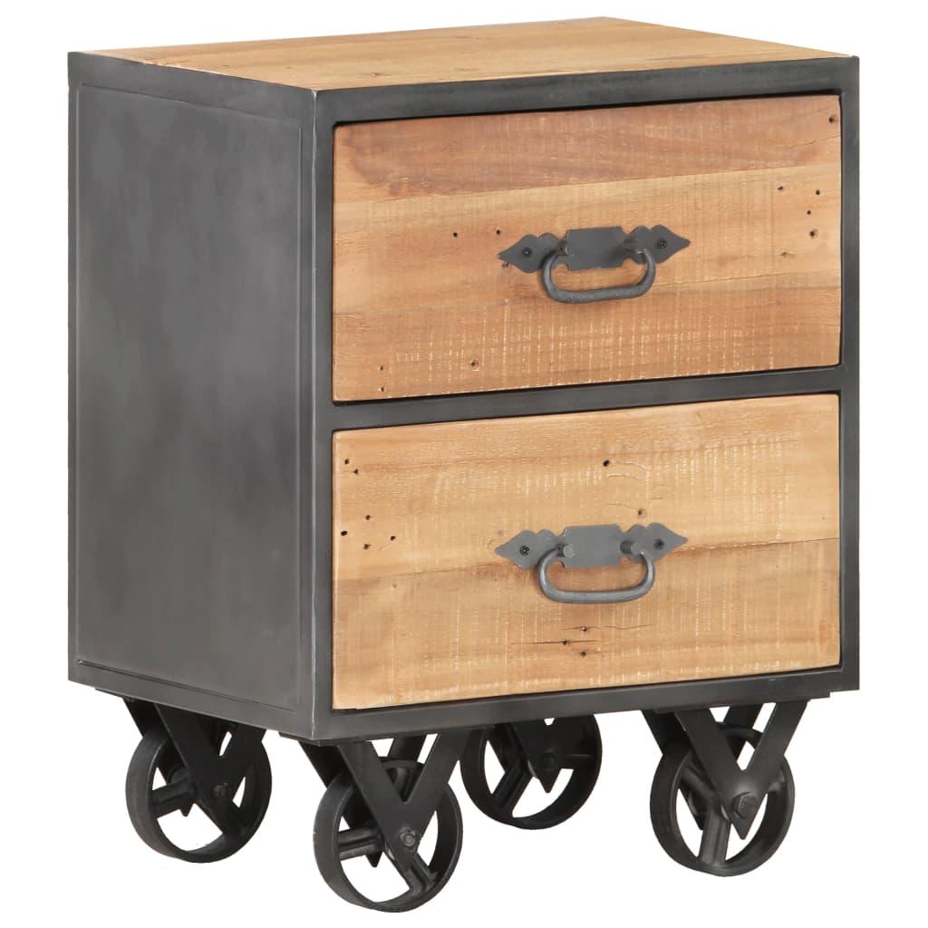 vidaXL Nachtkastje 40x30x51 cm massief gerecycled hout
