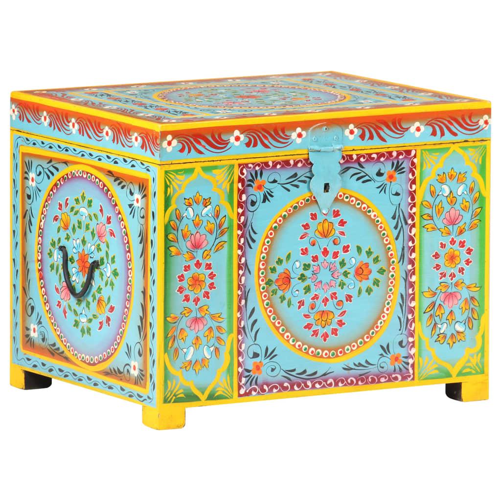 vidaXL Opbergbox handgeschilderd 50x40x40 cm massief mangohout
