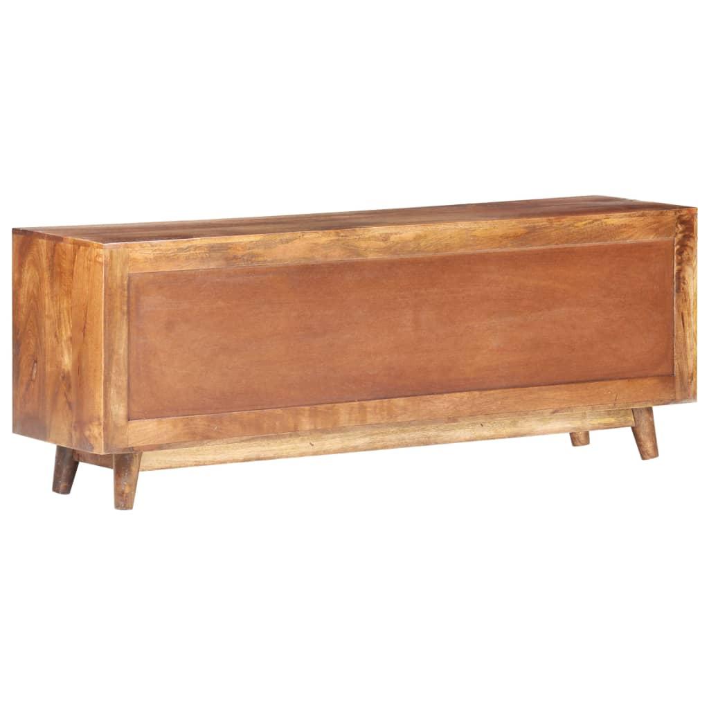 vidaXL Tv-meubel 130x30x52 cm massief mangohout