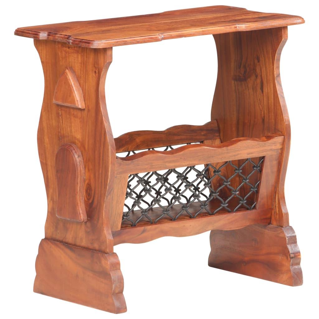 vidaXL Stojan na časopisy 50 x 30 x 53 cm masivní akáciové dřevo