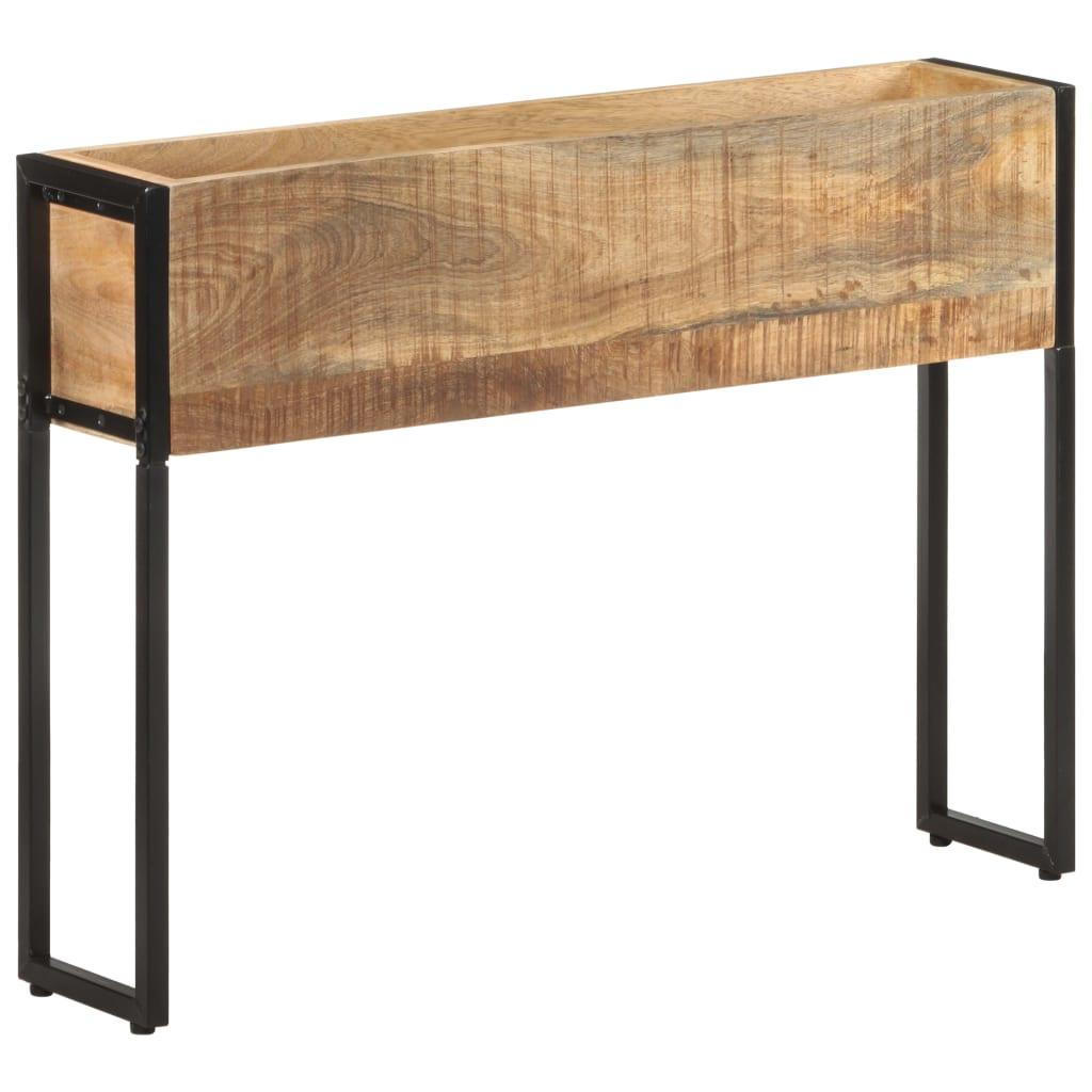 vidaXL Jardinieră, 90 x 20 x 68 cm, lemn de mango nefinisat imagine vidaxl.ro