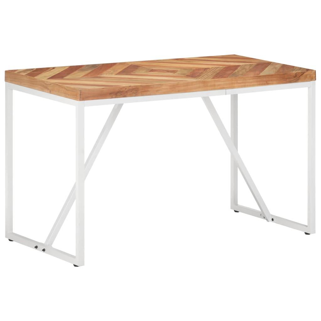 vidaXL Masă de bucătărie, 120x60x76cm, lemn masiv de acacia/mango vidaxl.ro