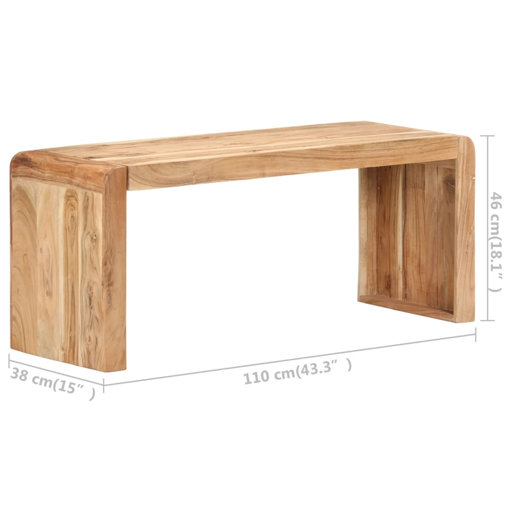 Bankje 110x38x46 cm massief acaciahout