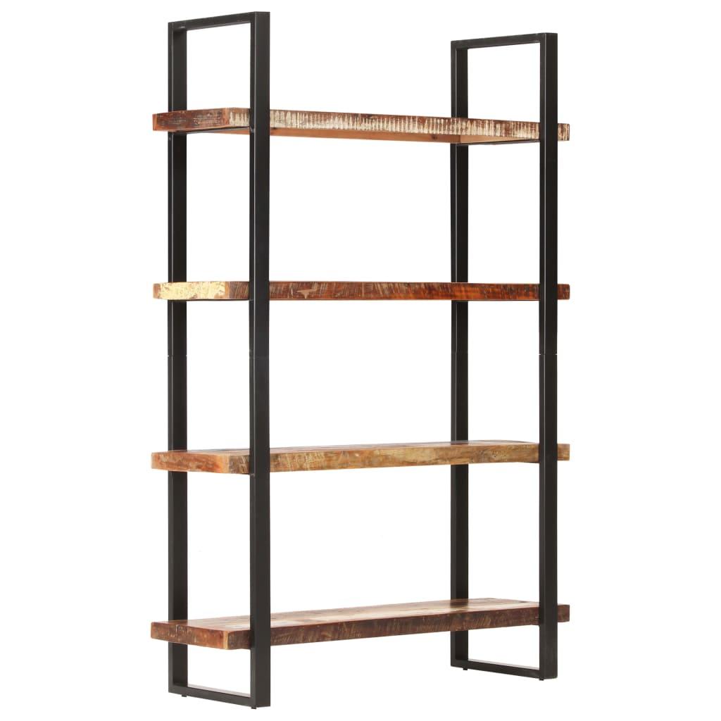 vidaXL Bibliotecă cu 4 rafturi, 120 x 40 x 180 cm, lemn masiv reciclat vidaxl.ro