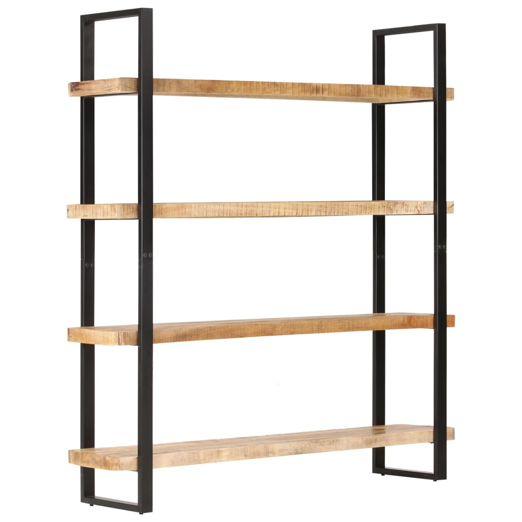 vidaXL Bibliotecă cu 4 rafturi, 160x40x180cm, lemn de mango nefinisat poza vidaxl.ro