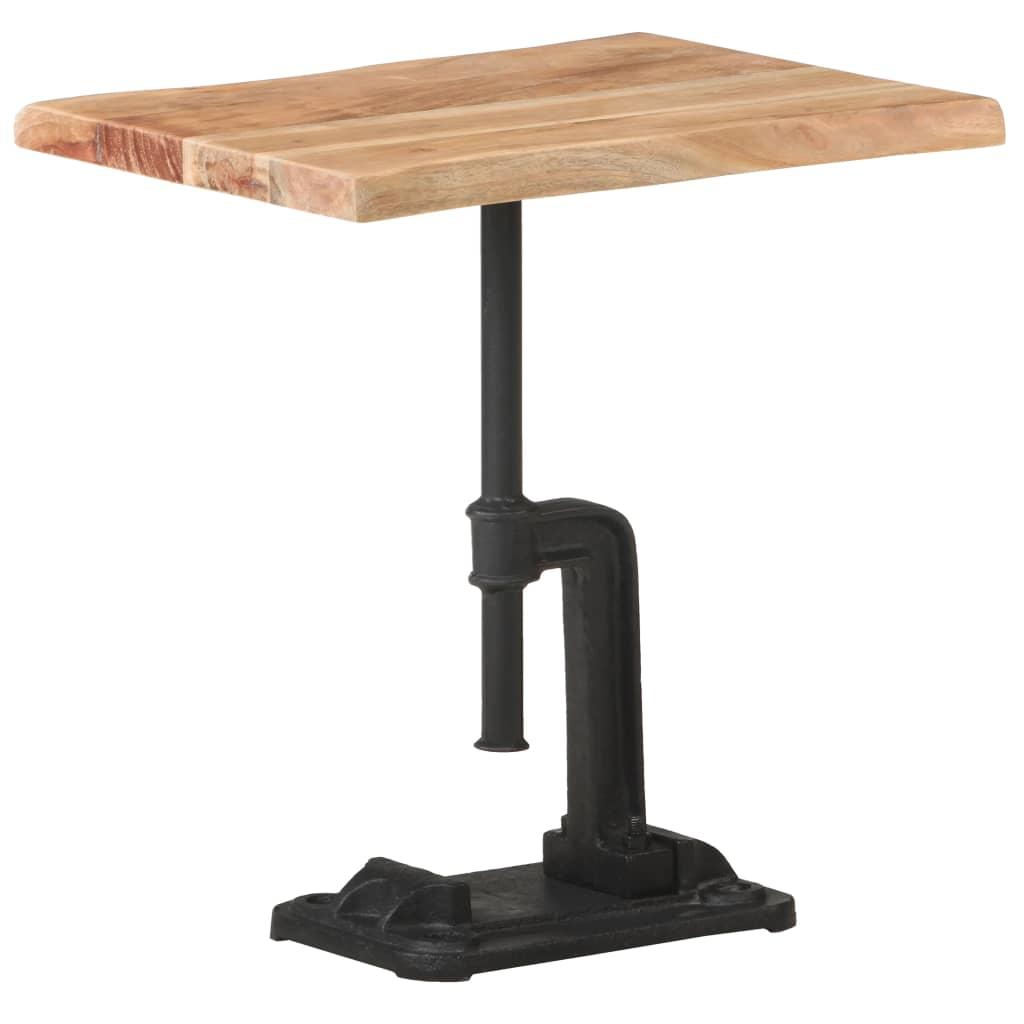 vidaXL Bočni stolić boja drva 45 x 35 x 48 cm drvo bagrema i željezo