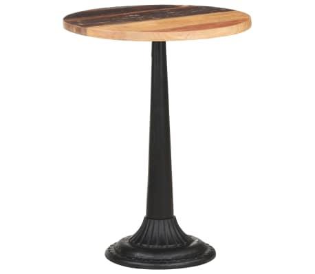 vidaXL Table de bistro Ø60x76 cm Bois massif de récupération
