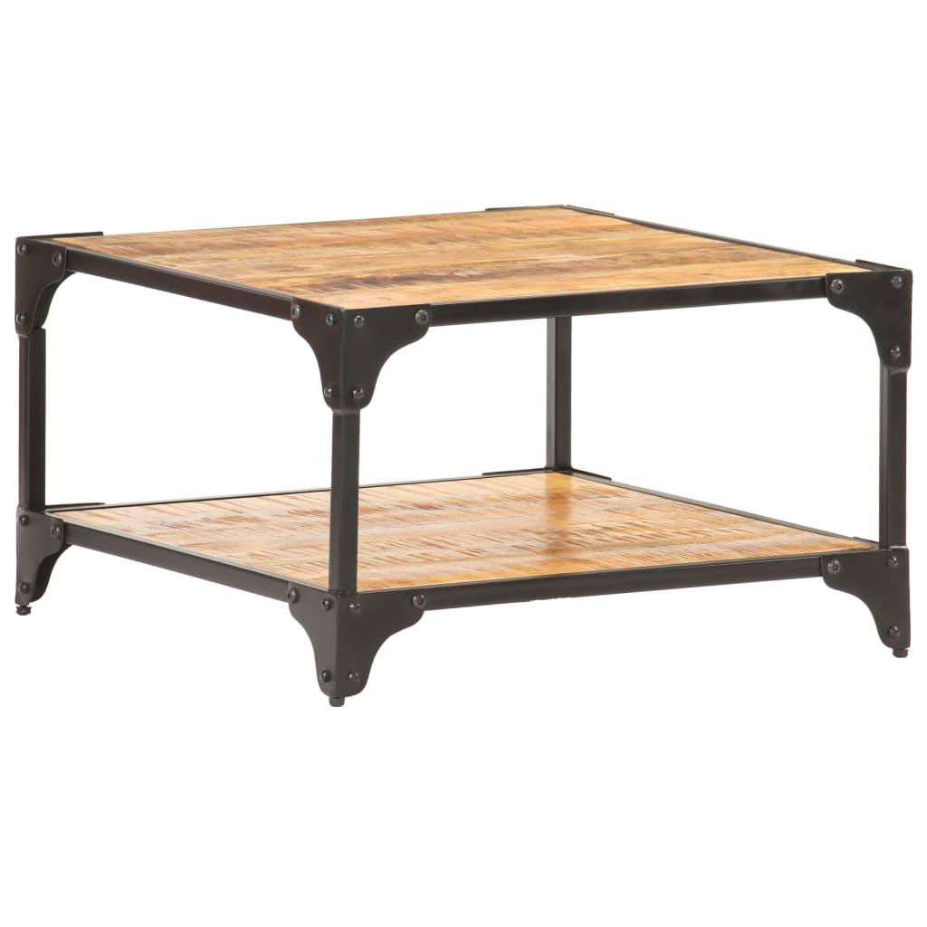 vidaXL Table basse 60x60x35 cm Bois de manguier massif