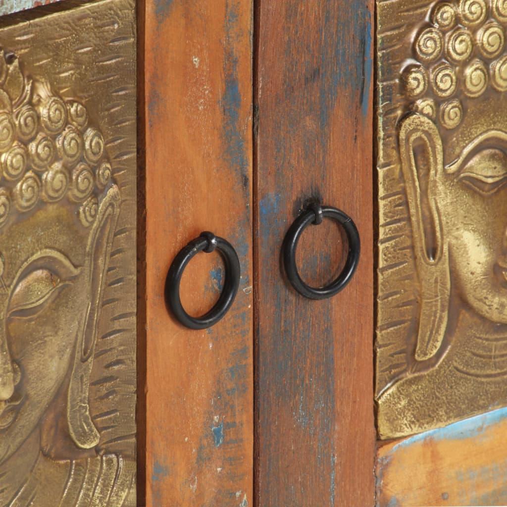 vidaXL Dressoir boeddha 60x35x75 cm massief gerecycled hout