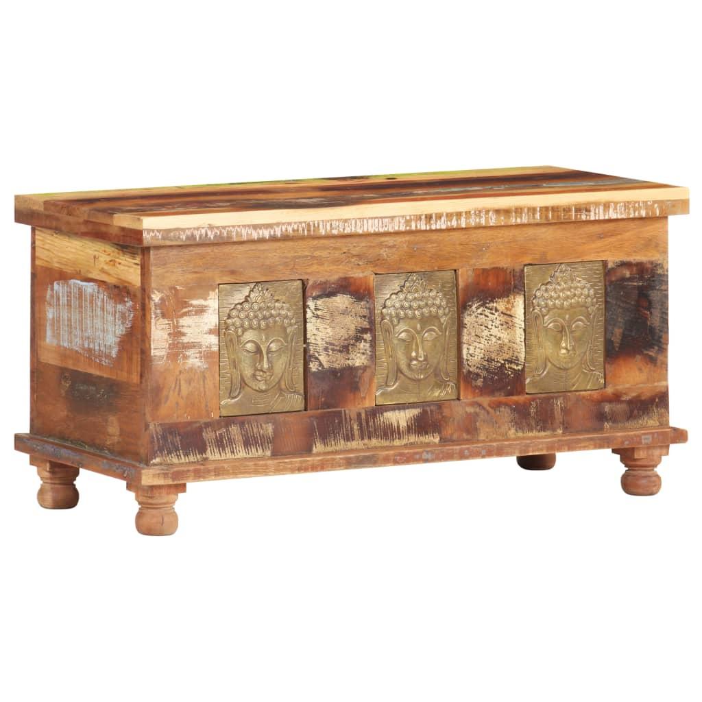 vidaXL Opbergbox boeddha 90x35x45 cm gerecycled hout