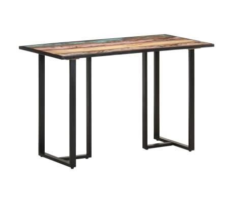 vidaXL Table de salle à manger 120 cm Bois de récupération massif