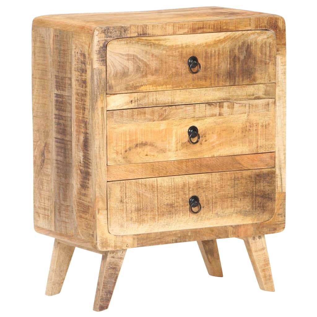 vidaXL Servantă, 60 x 35 x 75 cm, lemn de mango nefinisat poza 2021 vidaXL