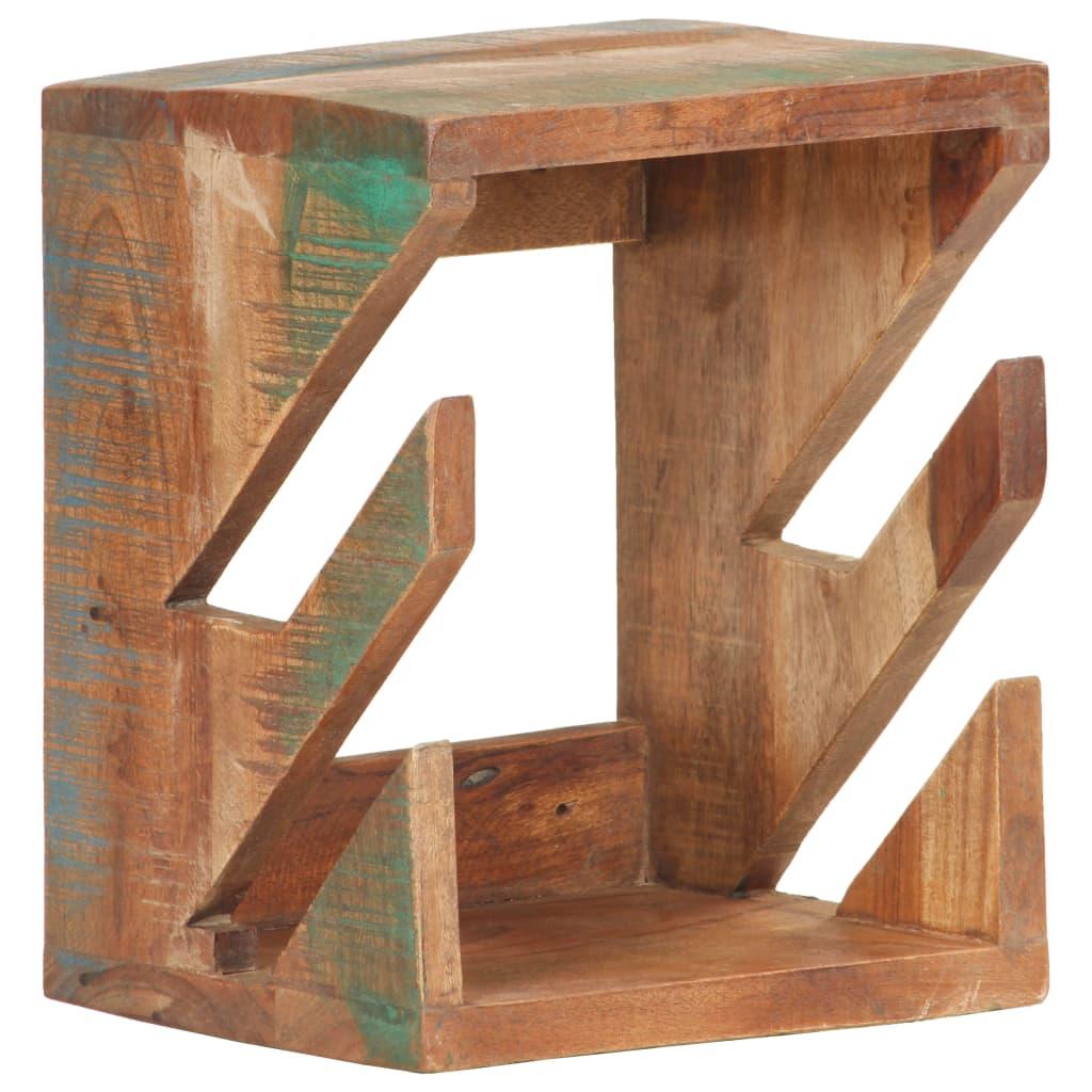 vidaXL Nástěnný držák na skateboard 25 x 20 x 30 cm recyklované dřevo