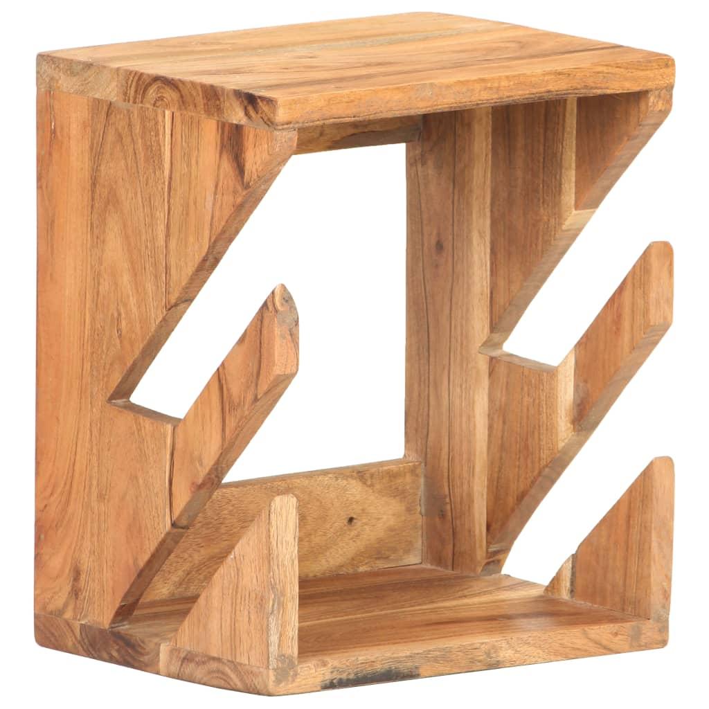 vidaXL Nástěnný držák na skateboard 25x20x30 cm masivní akáciové dřevo