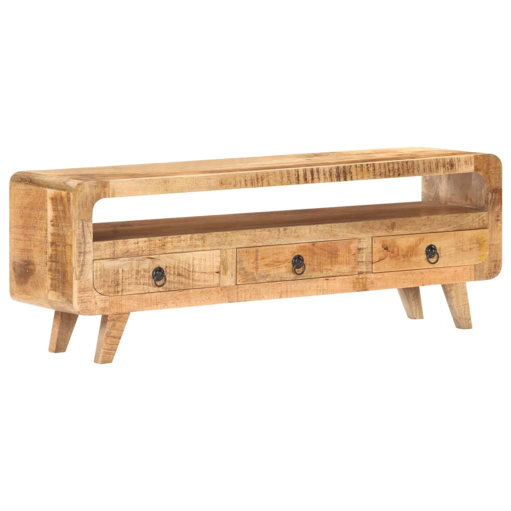 vidaXL Tv-meubel 117x30x41 cm massief ruw mangohout
