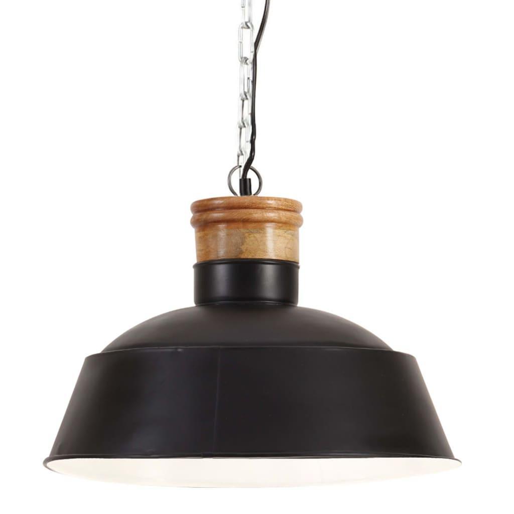 vidaXL Lampă suspendată industrială, negru, 42 cm, E27 poza vidaxl.ro