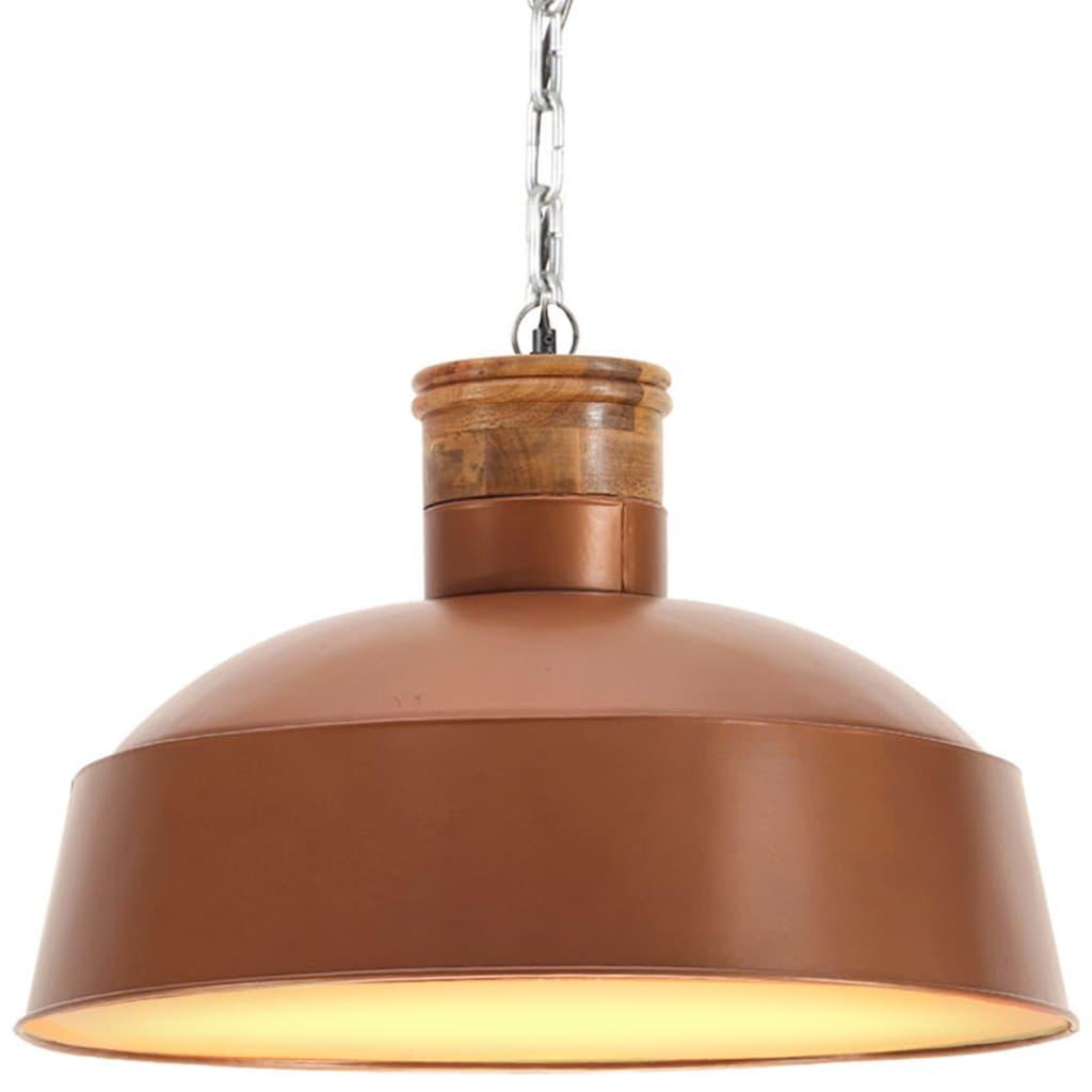 vidaXL Lampă suspendată industrială, arămiu, 58 cm E27 vidaxl.ro