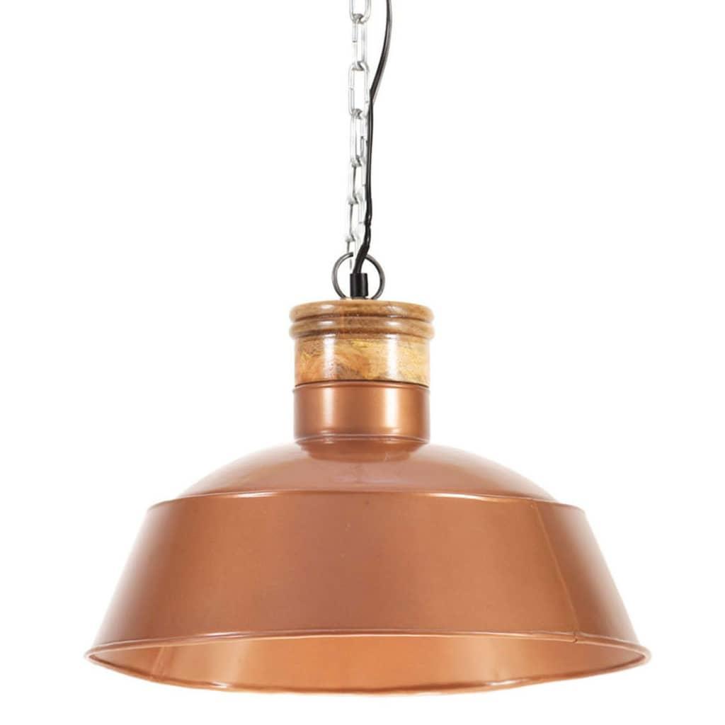 vidaXL Lampă suspendată industrială, arămiu, 42 cm E27 poza vidaxl.ro