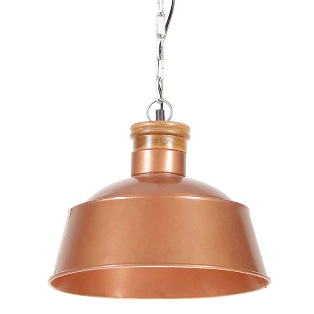 vidaXL Lampă suspendată industrială, arămiu, 32 cm E27 poza 2021 vidaXL