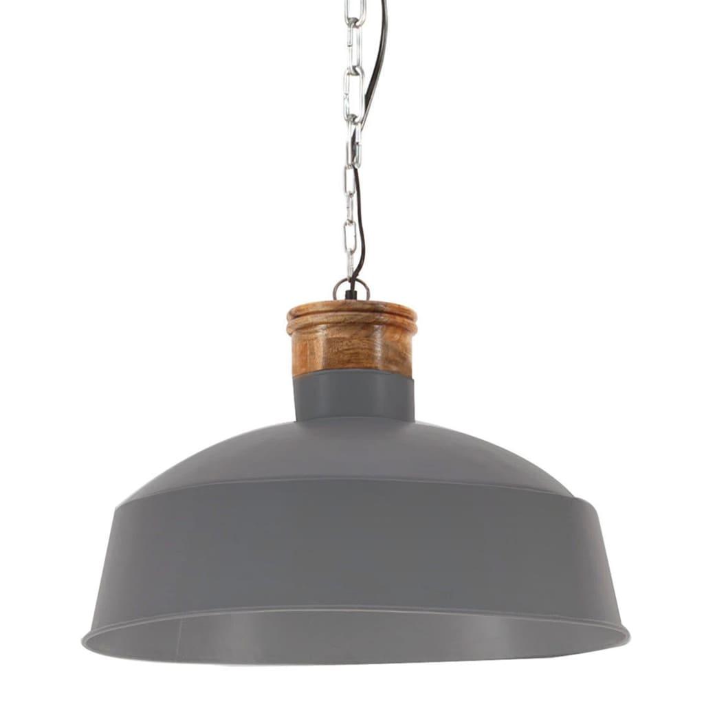 vidaXL Industrialna lampa wisząca, 58 cm, szara, E27