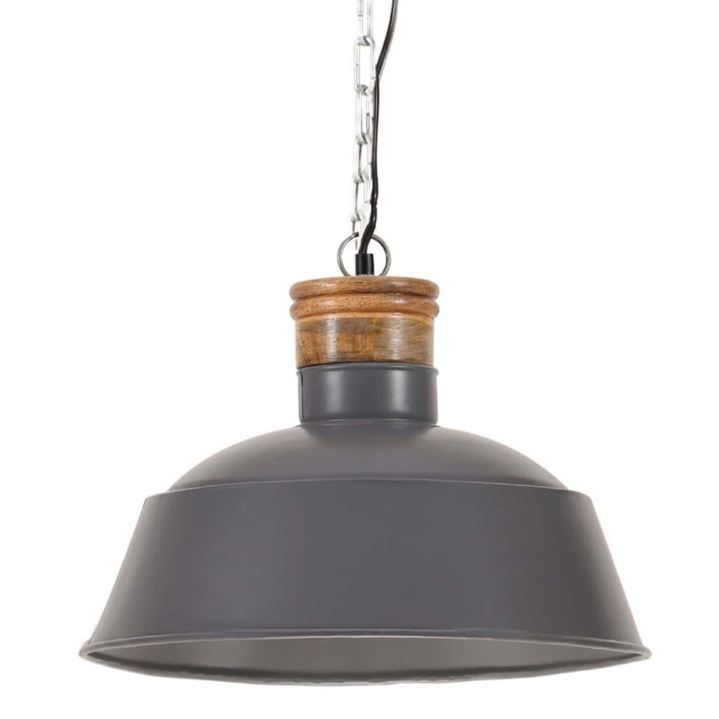 vidaXL Lampă suspendată industrială, gri, 42 cm E27 vidaxl.ro