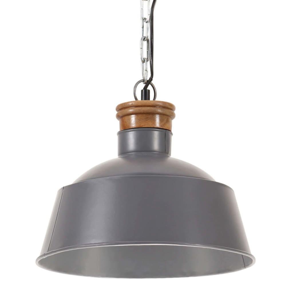 vidaXL Lampă suspendată industrială, gri, 32 cm, E27 vidaxl.ro