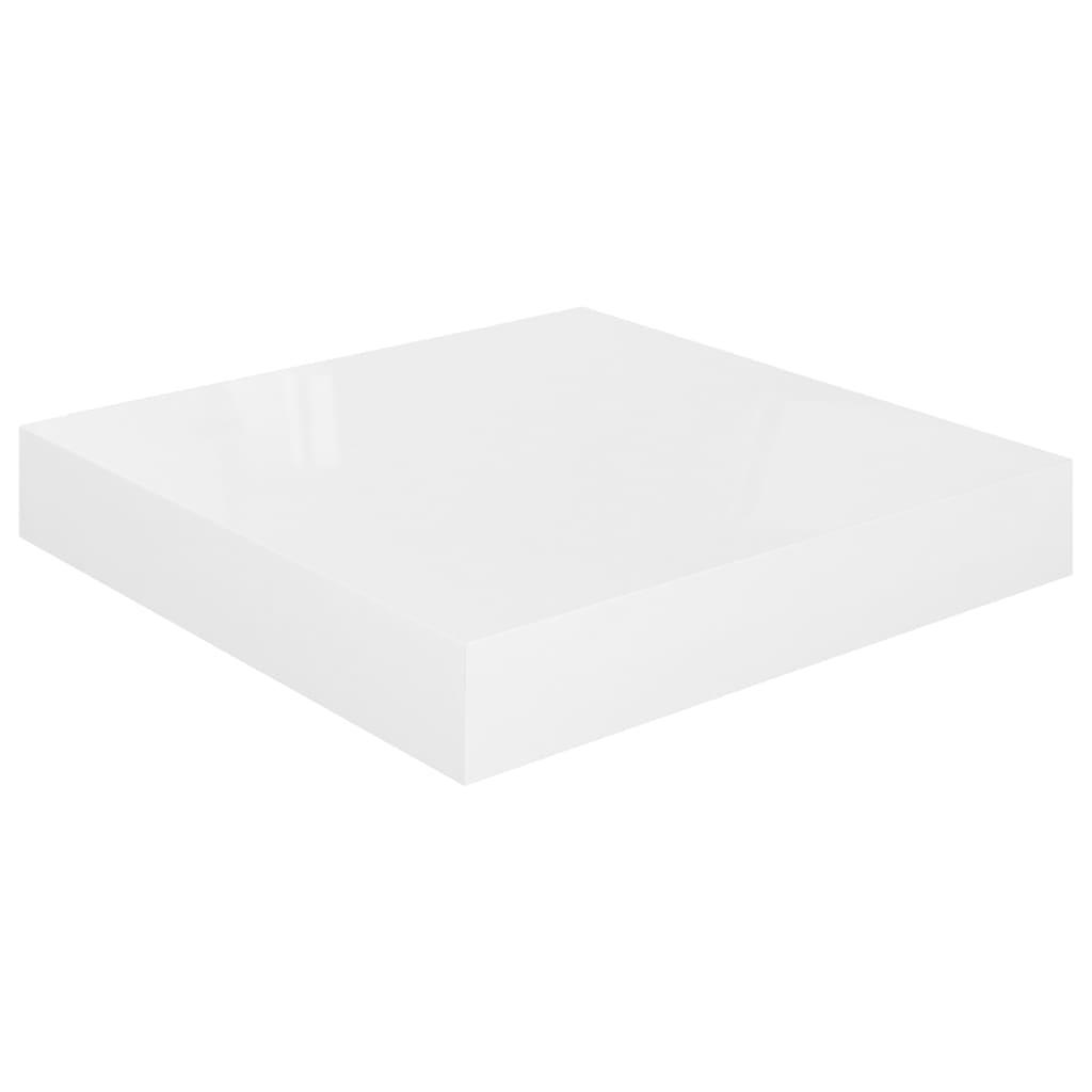 vidaXL Wandschap zwevend 23x23,5x3,8 cm MDF hoogglans wit
