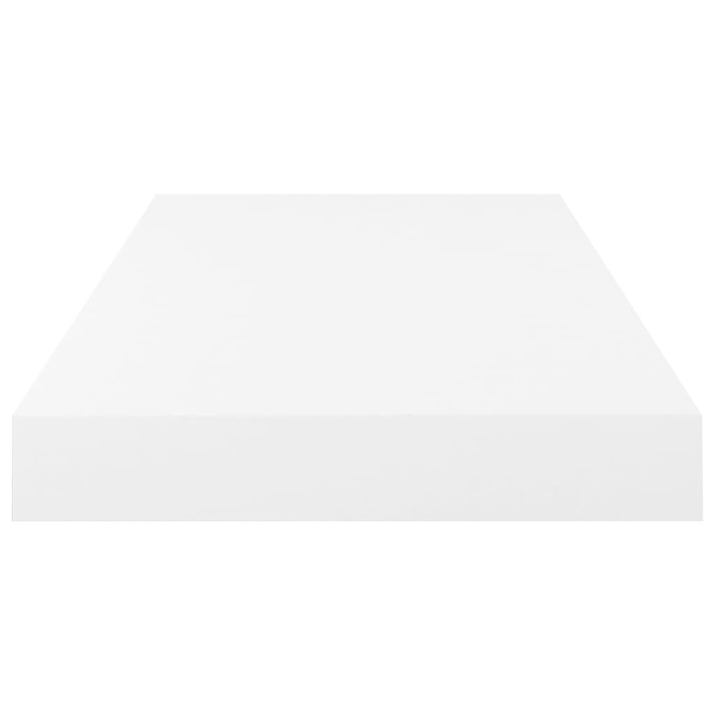 vidaXL Wandschappen zwevend 2 st 50x23x3,8 cm MDF hoogglans wit