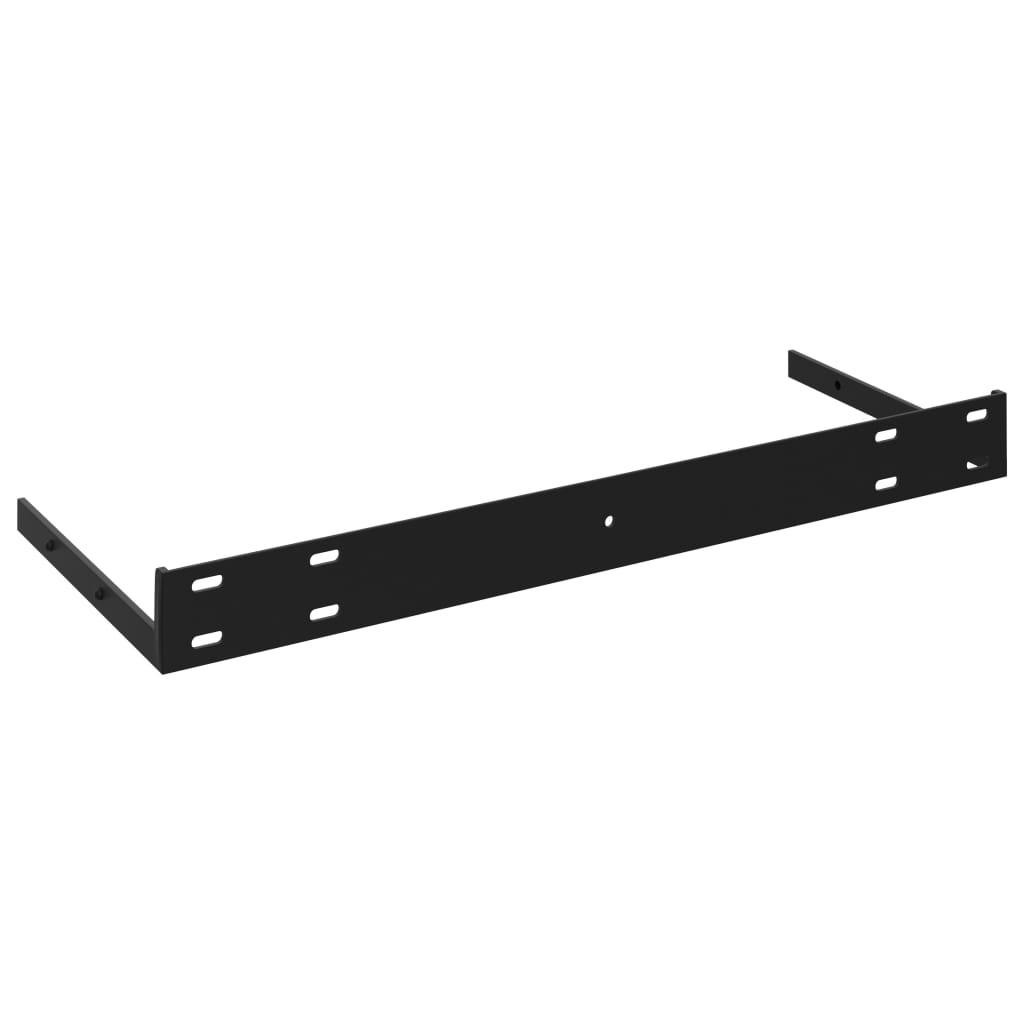 vidaXL Wandschappen zwevend 2 st 80x23,5x3,8 cm MDF hoogglans zwart