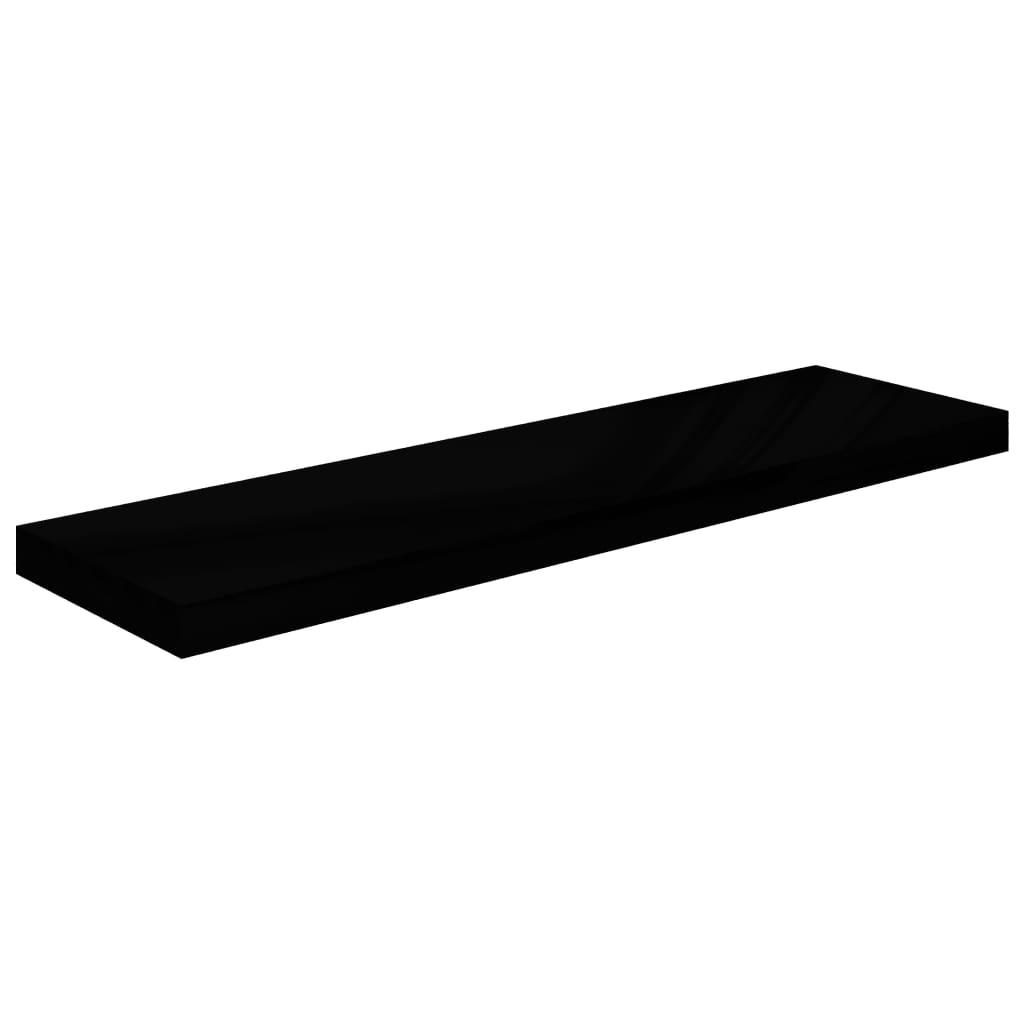 vidaXL Wandschap zwevend 90x23,5x3,8 cm MDF hoogglans zwart