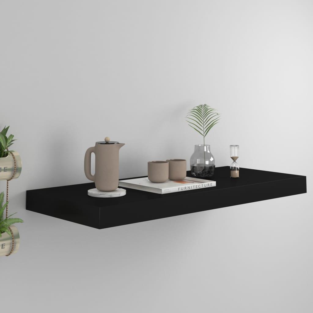 vidaXL Raft de perete suspendat, negru, 60x23,5x3,8 cm, MDF vidaxl.ro