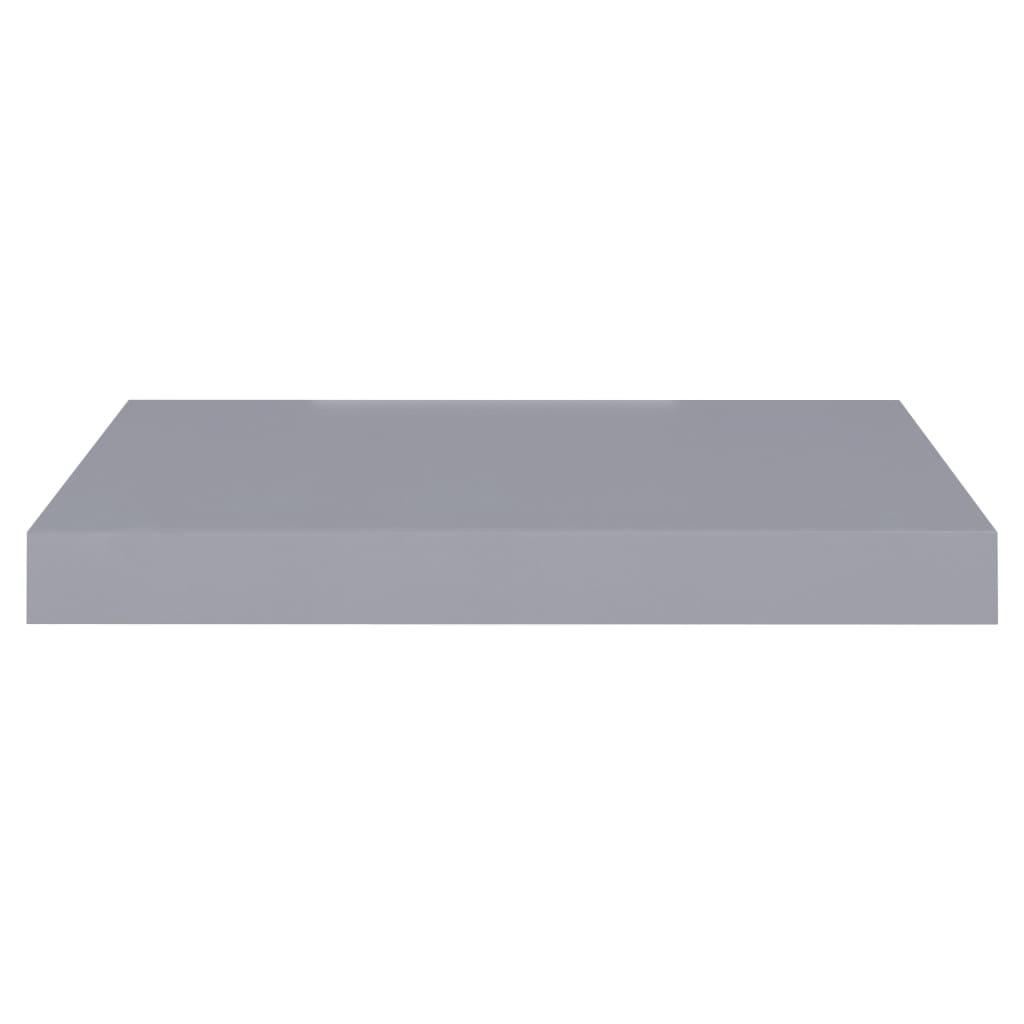 vidaXL Wandschappen zwevend 2 st 40x23x3,8 cm MDF grijs