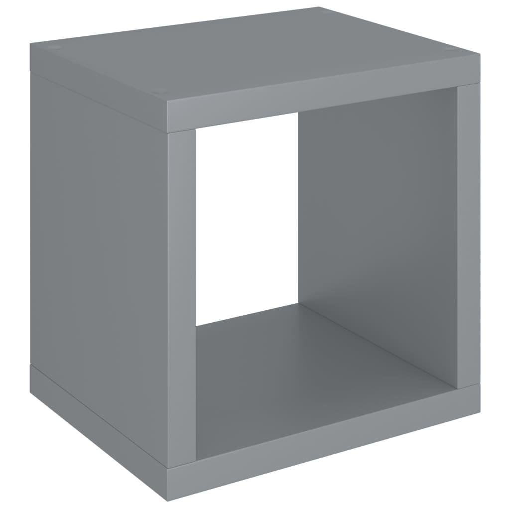 vidaXL-Wuerfelregal-Grau-37x29-5x37cm-MDF-Wandregal-Buecherregal-Standregal Indexbild 2