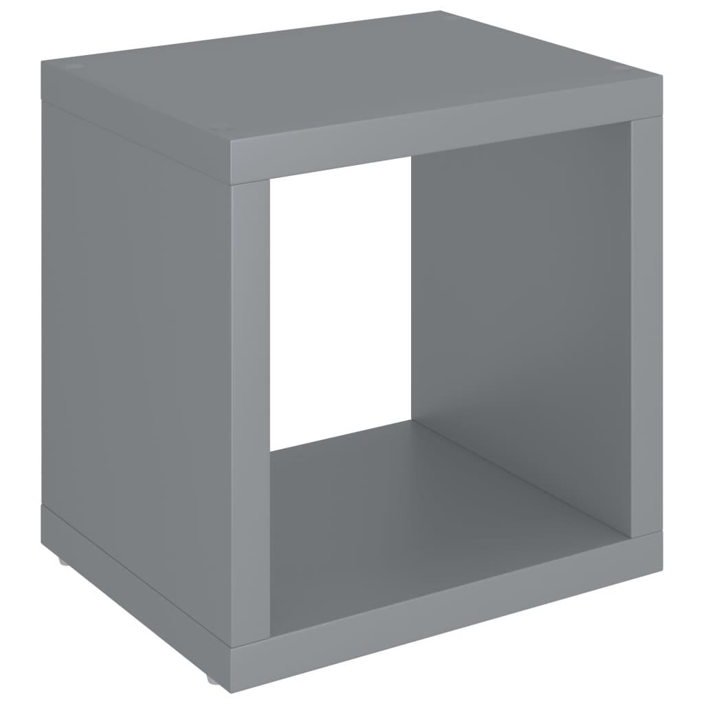 vidaXL-Wuerfelregal-Grau-37x29-5x37cm-MDF-Wandregal-Buecherregal-Standregal Indexbild 4