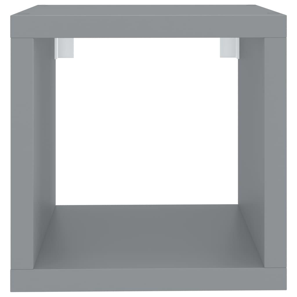 vidaXL-Wuerfelregal-Grau-37x29-5x37cm-MDF-Wandregal-Buecherregal-Standregal Indexbild 5