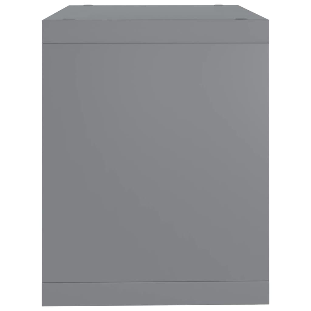 vidaXL-Wuerfelregal-Grau-37x29-5x37cm-MDF-Wandregal-Buecherregal-Standregal Indexbild 6