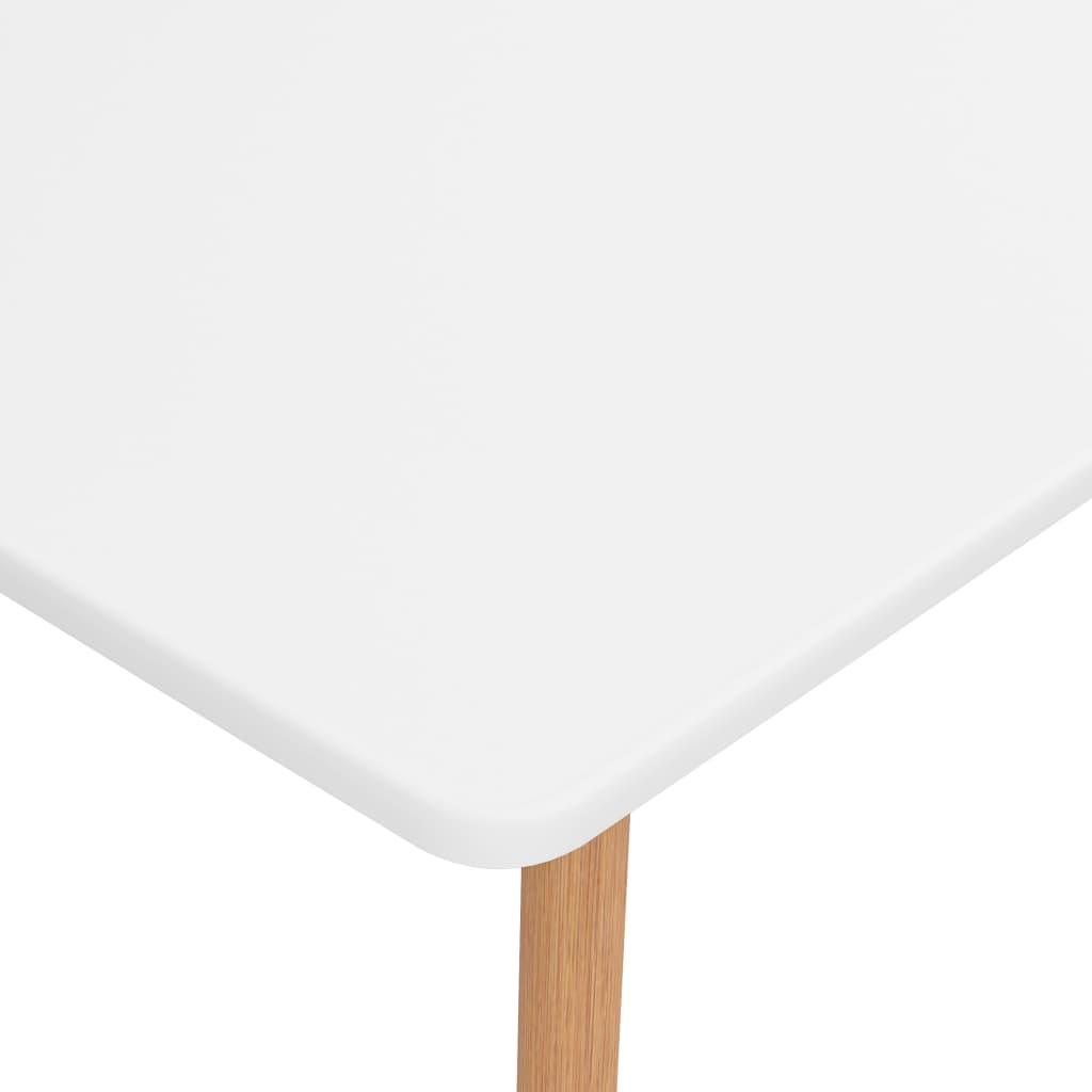 vidaXL 5-delige Eethoek wit