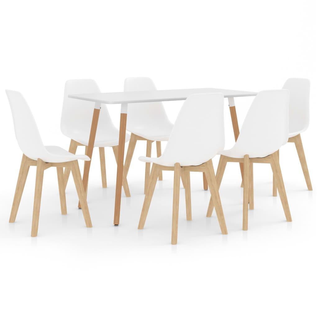 vidaXL Set de mobilier de bucătărie, 7 piese, alb poza 2021 vidaXL