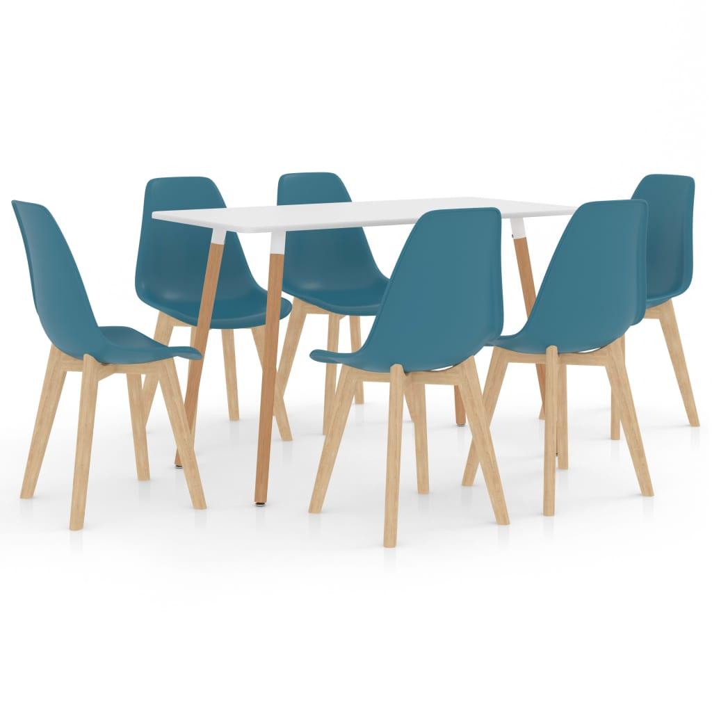vidaXL Set de mobilier de bucătărie, 7 piese, turcoaz poza vidaxl.ro