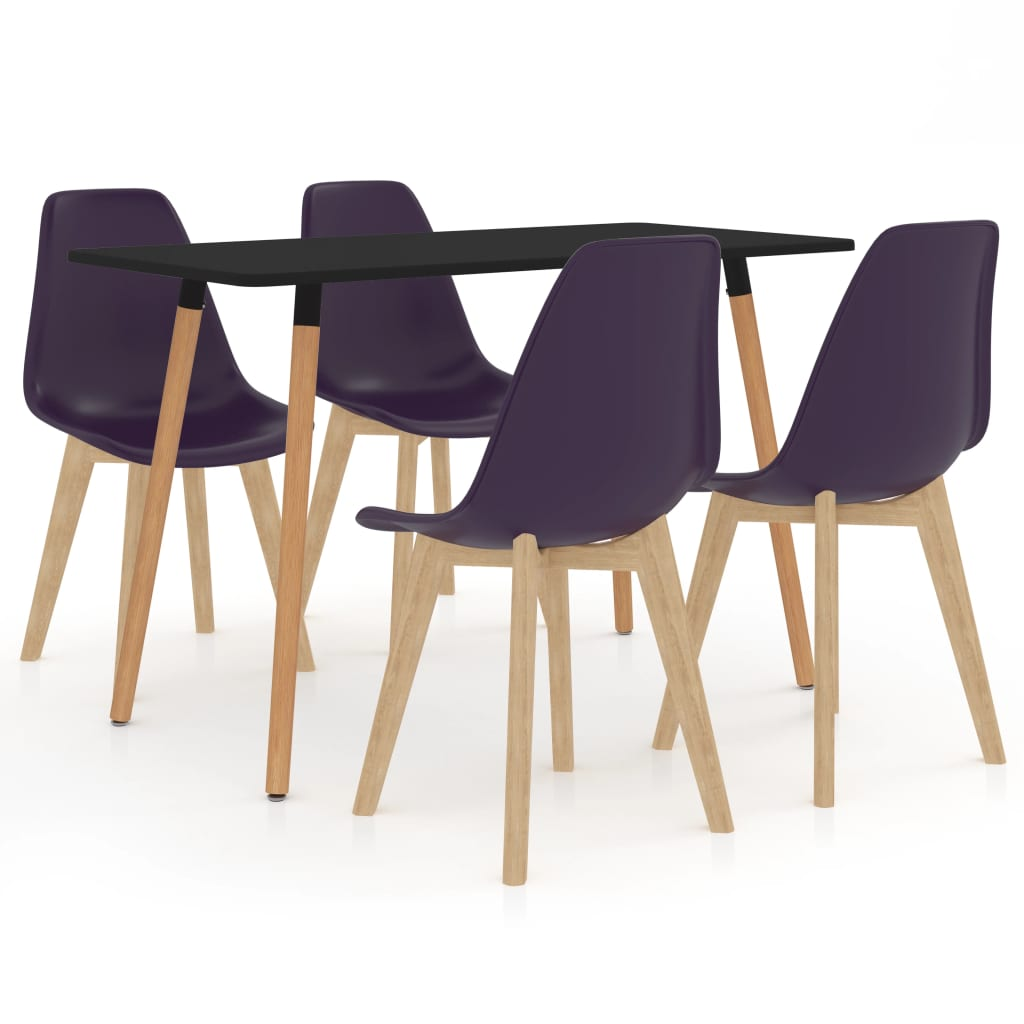 vidaXL Set mobilier de bucătărie, 5 piese, mov închis imagine vidaxl.ro