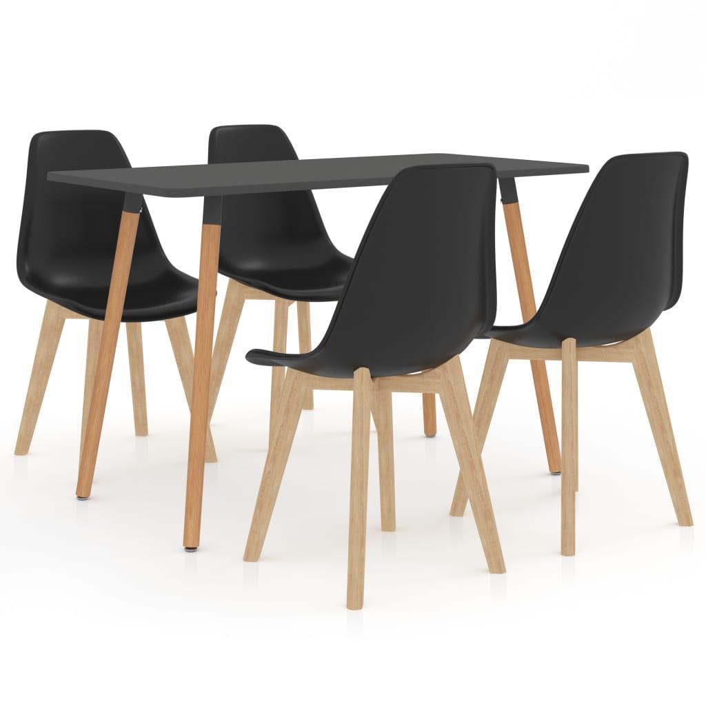 vidaXL Set de mobilier de bucătărie, 5 piese, negru poza 2021 vidaXL