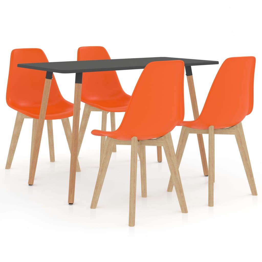vidaXL Set mobilier de bucătărie, 5 piese, portocaliu vidaxl.ro