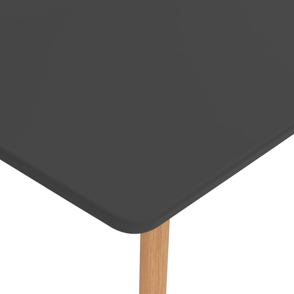 vidaXL 7-delige Eethoek bruin