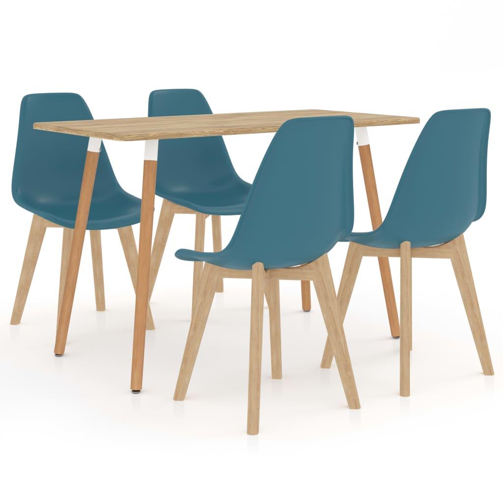 vidaXL Set de mobilier de bucătărie, 5 piese, turcoaz poza vidaxl.ro